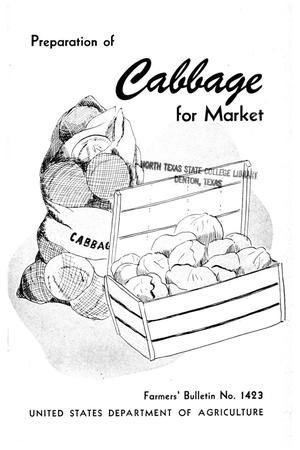 Primary view of object titled 'Preparation of cabbage for market.'.