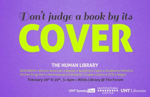 Primary view of object titled 'Don't judge a book by its Cover: The Human Library'.