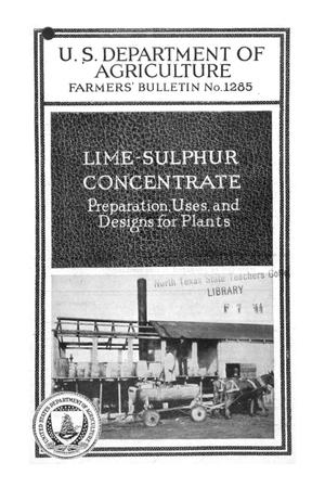 Lime-sulphur concentrate : preparation, uses and designs for plants.