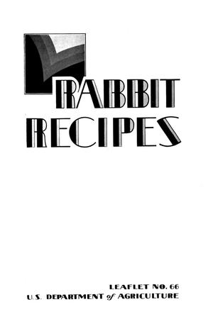 Primary view of object titled 'Rabbit Recipes.'.