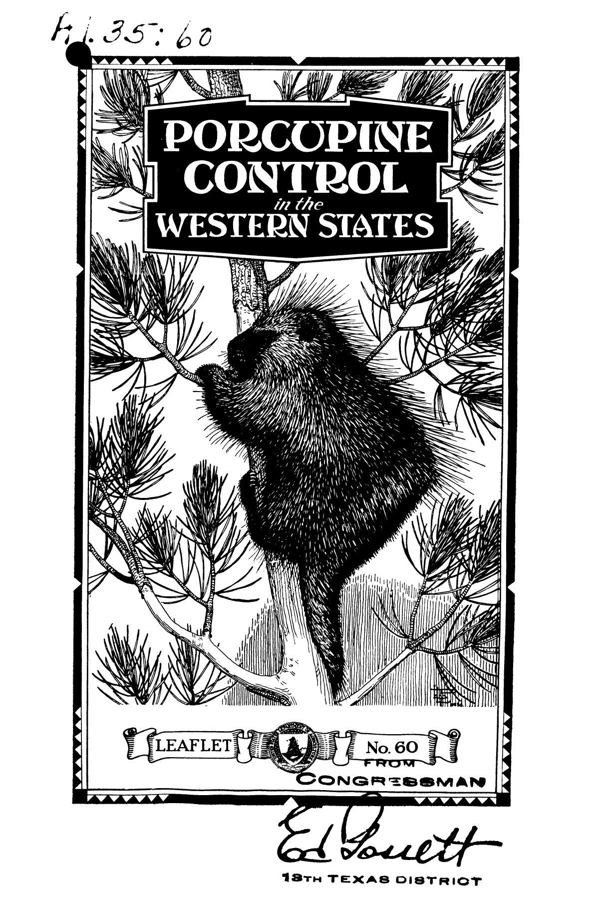 Porcupine control in the western states.                                                                                                      1