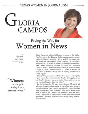 Primary view of object titled 'Gloria Campos, Paving the Way for Women in News'.