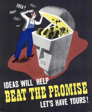 Primary view of object titled 'Ideas will help beat the promise : let's have yours!'.
