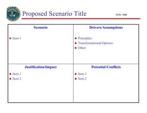 Primary view of object titled 'Proposed Scenario Title'.