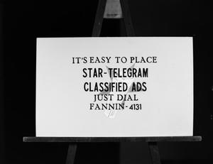 Primary view of [Star-Telegram Classified Ads slides]