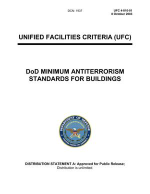 Primary view of object titled 'UNIFIED FACILITIES CRITERIA (UFC) DoD MINIMUM ANTITERRORISM STANDARDS FOR BUILDINGS'.