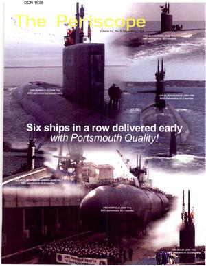 Primary view of object titled 'The Periscope volume 62, No 8 September 2004. Portsmouth Naval Shipyard Presentation for Base Realignment and Closure Commissioners'.