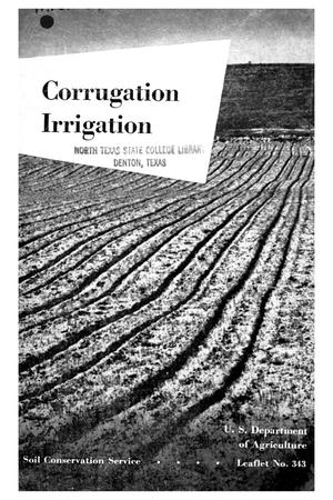 Primary view of object titled 'Corrugation irrigation.'.