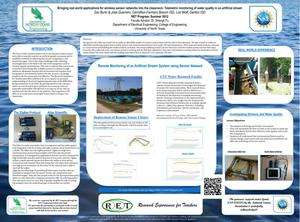 Primary view of object titled 'Bringing real world applications for wireless sensor networks into the classroom: Telemetric monitoring of water quality in an artificial stream [2012: Poster]'.