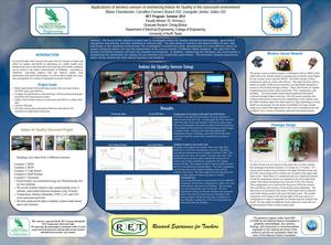 Primary view of object titled 'Applications of wireless sensors in monitoring Indoor Air Quality in the classroom environment [Poster]'.