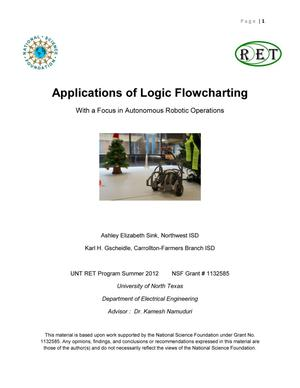 Applications of Logic Flowcharting With a Focus in Autonomous Robotic Operations