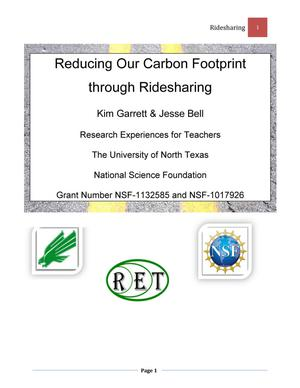 Reducing Our Carbon Footprint through Ridesharing
