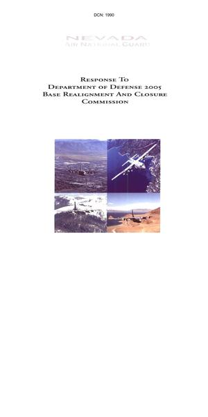 Primary view of object titled 'Nevada Air National Guard Response to DOD 2005 Base Realignment and Closure'.