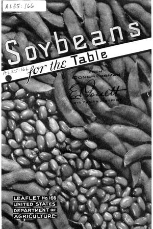 Primary view of object titled 'Soybeans for the table.'.