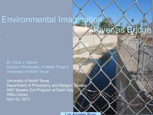 Primary view of object titled 'Environmental Imagination River as Bridge'.