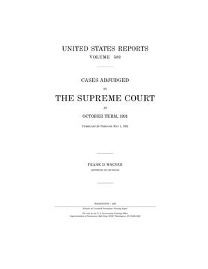 Primary view of object titled 'Cases Adjudged in The Supreme Court at October Term, 1991'.