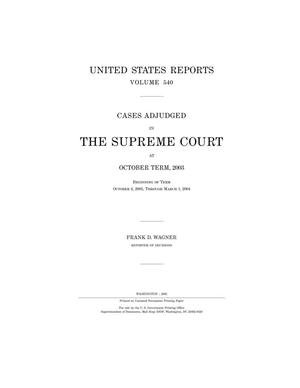 Primary view of object titled 'Cases Adjudged in The Supreme Court at October Term, 2003'.
