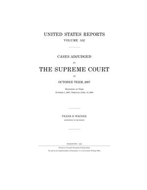 Primary view of object titled 'Cases Adjudged in The Supreme Court at October Term, 2007'.