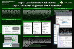 Primary view of object titled 'Digital Curation Micro-Applications: Digital Lifecycle Management with AutoHotkey'.