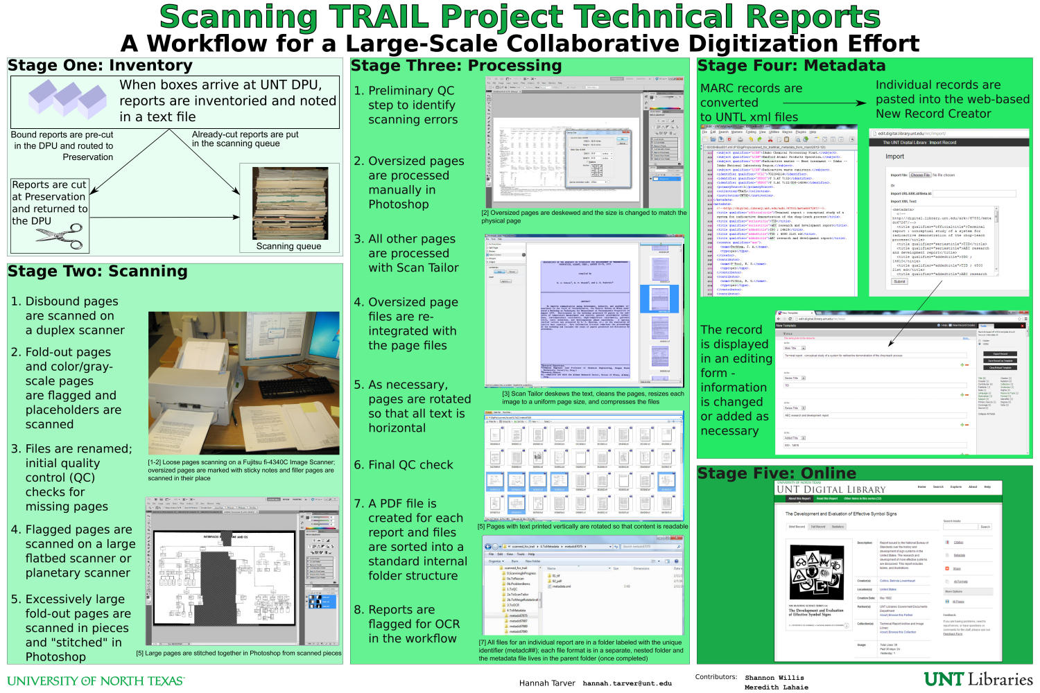 Scanning TRAIL Project Technical Reports: A Workflow for a Large ...