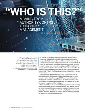 """Who Is This?"": Moving from Authority Control to Identity Management"