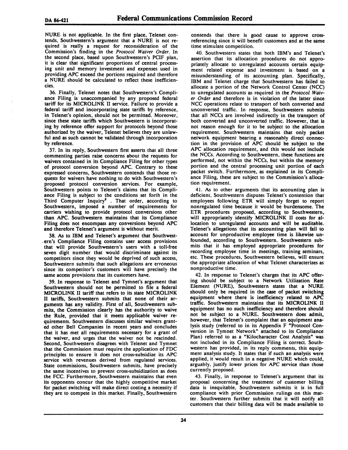 FCC Record, Volume 2, No. 1, Pages 1 to 409, January 5 - January 16, 1987                                                                                                      24