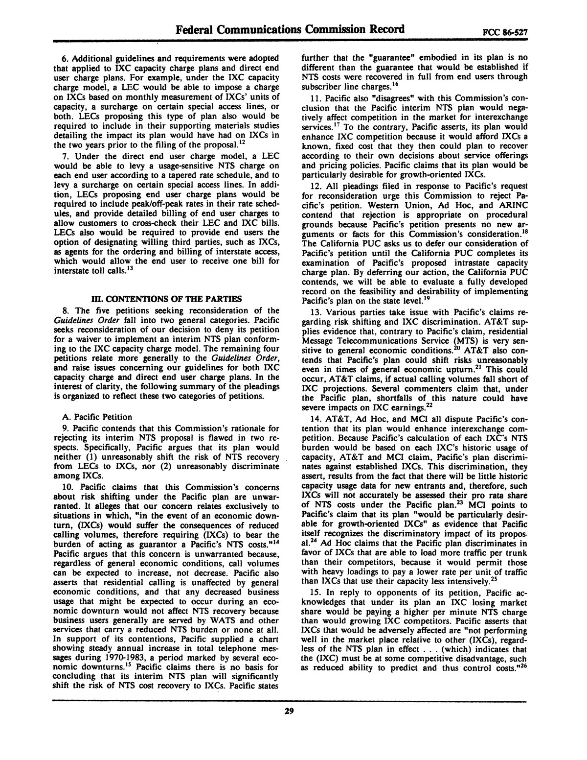 FCC Record, Volume 2, No. 1, Pages 1 to 409, January 5 - January 16, 1987                                                                                                      29