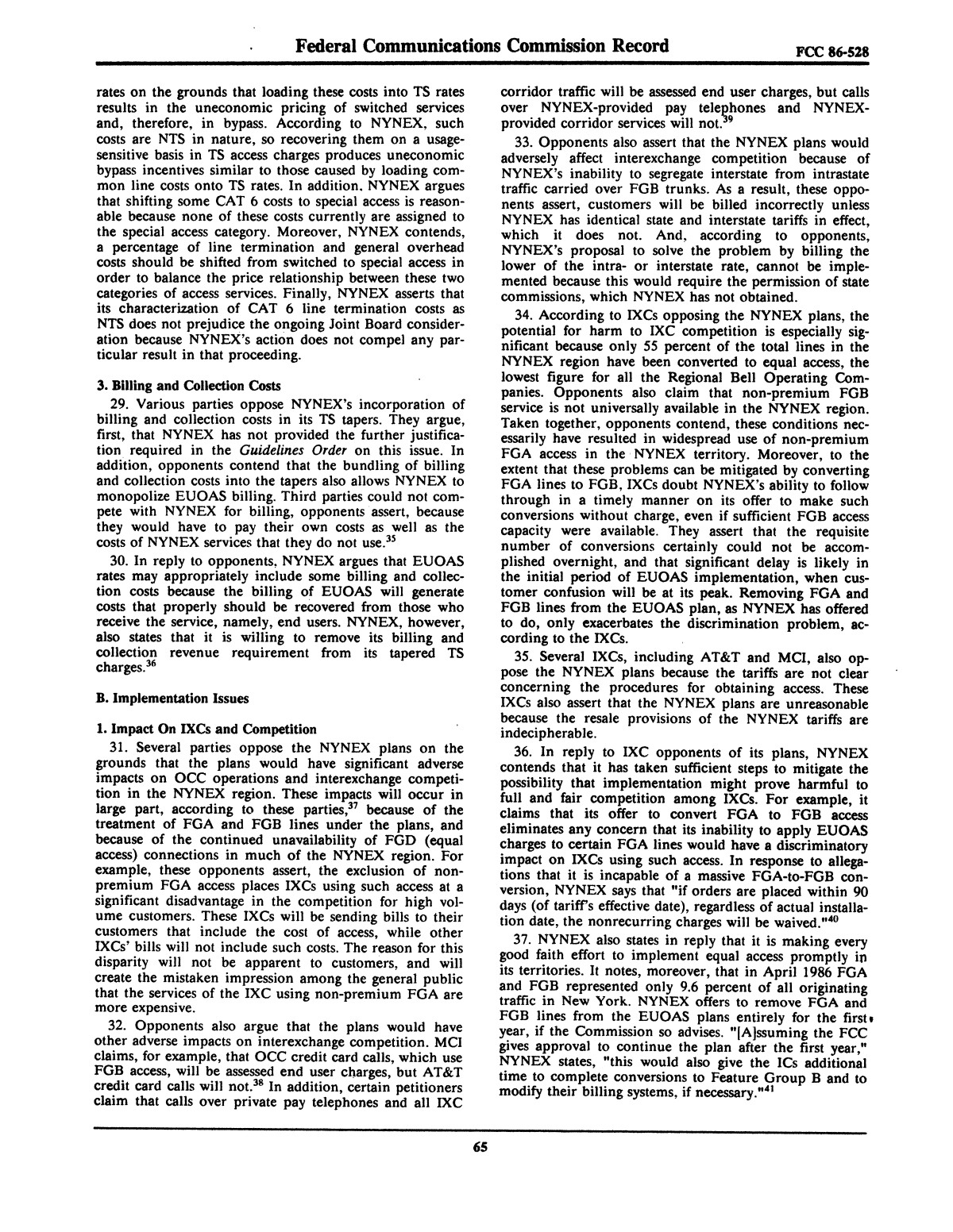 FCC Record, Volume 2, No. 1, Pages 1 to 409, January 5 - January 16, 1987                                                                                                      65