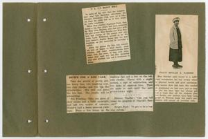 Primary view of object titled '[Izetta Sparks' scrapbook]'.