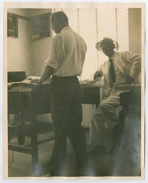 Primary view of [Byrd Jr. photographed in engineering department]