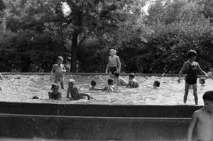 Primary view of [Photograph of children swimming in a pool]