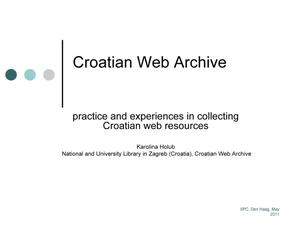 Primary view of Croatian Web Archive: practice and experiences in collecting Croatian web resources