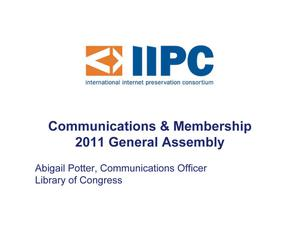 Primary view of Communications Officer Report