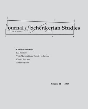 Journal of Schenkerian Studies, Volume 11, 2018
