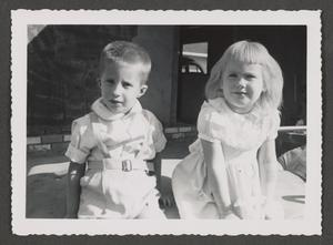 Primary view of [Photograph of a young boy and girl]
