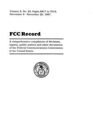 FCC Record, Volume 3, No. 15, Pages 4355 to 4630, July 18 - July 29, 1988