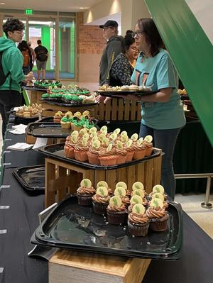 Primary view of object titled '[Cupcakes in the UNT Union]'.
