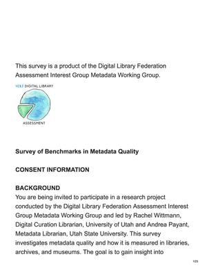 Survey of Benchmarks in Metadata Quality