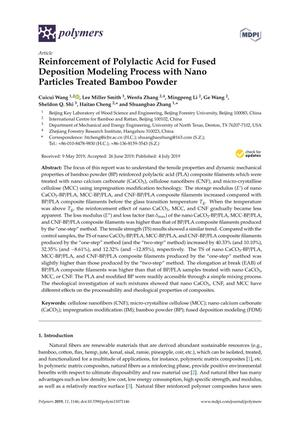 Reinforcement of Polylactic Acid for Fused Deposition Modeling Process with Nano Particles Treated Bamboo Powder