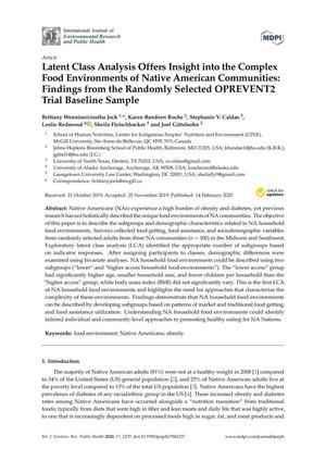 Latent Class Analysis Offers Insight into the Complex Food Environments of Native American Communities: Findings from the Randomly Selected OPREVENT2 Trial Baseline Sample