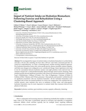 Impact of Nutrient Intake on Hydration Biomarkers Following Exercise and Rehydration Using a Clustering-Based Approach