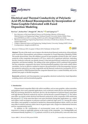 Electrical and Thermal Conductivity of Polylactic Acid (PLA)-Based Biocomposites by Incorporation of Nano-Graphite Fabricated with Fused Deposition Modeling