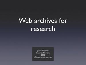 Primary view of Leveraging social web to propel your archiving campaign