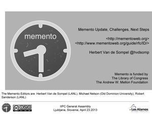 Memento Aggregator Update
