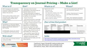 Primary view of object titled 'Transparency on Journal Pricing - Make a List!'.