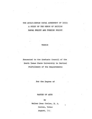 The anglo german naval agreement of 1935 a study of the nexus of thumbnail image of item number 2 in the anglo german naval agreement of platinumwayz