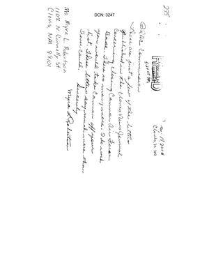 Primary view of object titled 'Letter from Myra Robertson to the Commission in support of Cannon AFB.'.