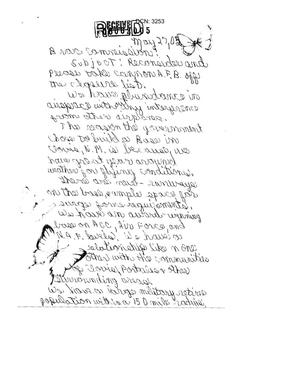 Primary view of object titled '[Letter from Roselyn Patterson to the BRAC - May 27, 2005]'.