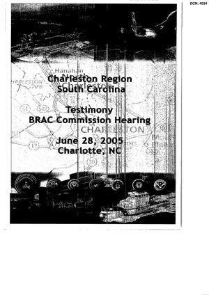 Primary view of object titled 'Charleston Region Testimony BRAC Commission Hearing'.