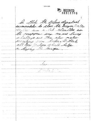 Primary view of object titled 'Letter from Brenden Wilson to the Commission'.